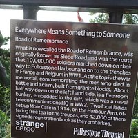 Remembrance railings next to the arch