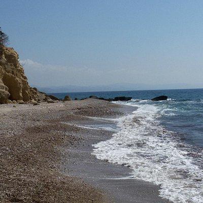 Aliki beach, vista sud