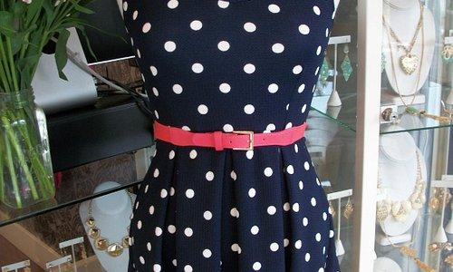 Cute poka dot dress!