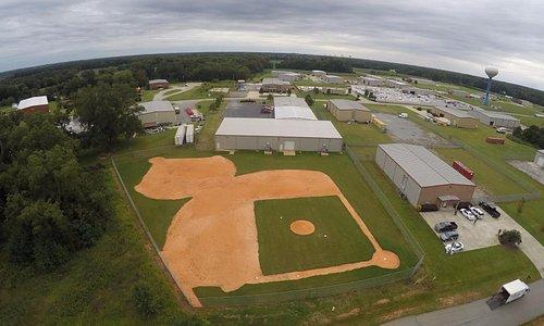 Baseball Fields behind Game On