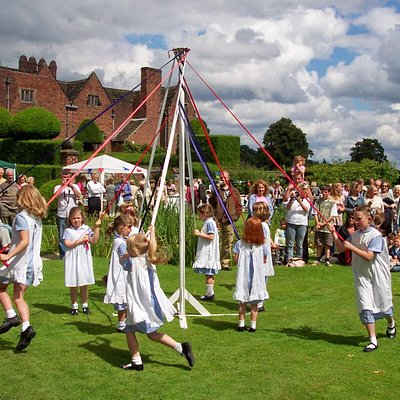 MAYPOLE DANCING - PEOVER GARDEN PARTY AT PEOVER HALL