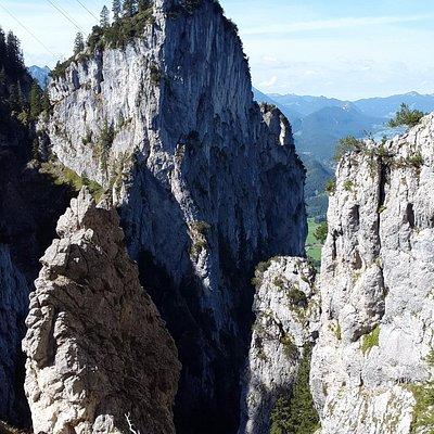 Blick vom oberen Teil des gelben Wand Steigs zurück..