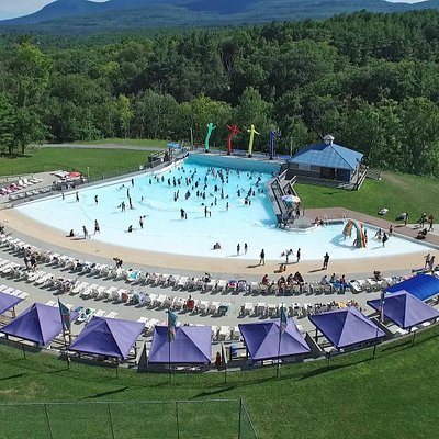 Aerial view of Riptide Cove Wave Pool