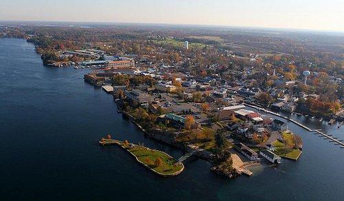Alexandria Bay fall aerial