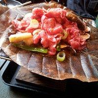飛騨牛朴葉焼き定食