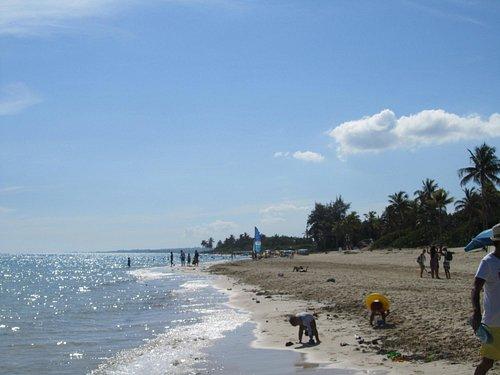 La playa vicino al ranchon