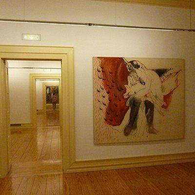 Uma das salas de exposição