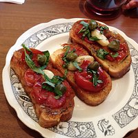 Tomatoes with capers bruscetta