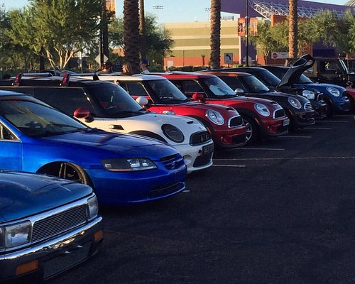 Mini Cooper section at Car Show