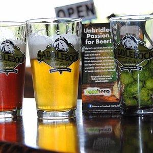 Saddlebock Brewery Ale Trail stop in Springdale, AR.