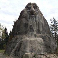 Funny troll statue