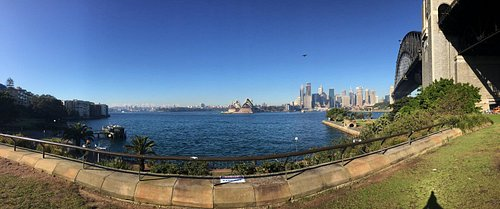 View of Sydney Opera House from across the river