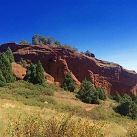 Coming down from the high point of Red Rocks Trail, you're rewarded with this!