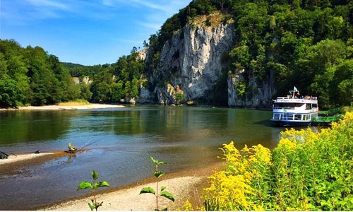 Danube Gorge, seen from near the Monastery Weltenberg