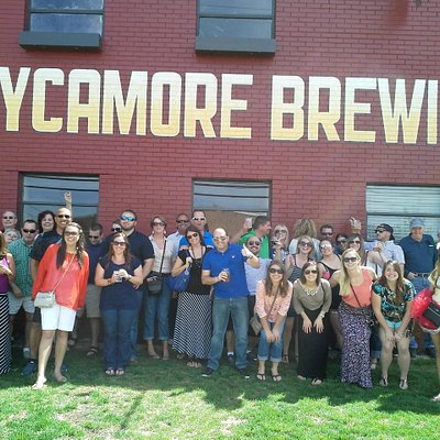 Group picture at Sycamore Brewery on 4/11/15 Brew Ha Ha Tour