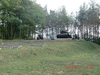 Pomnik przy bunkrz