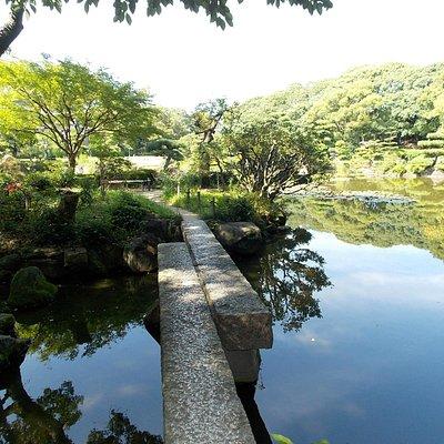 慶沢園 切石橋