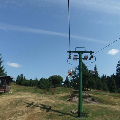 Ski lift at the summer time