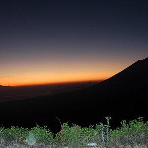 View from Mount Batur Caldera