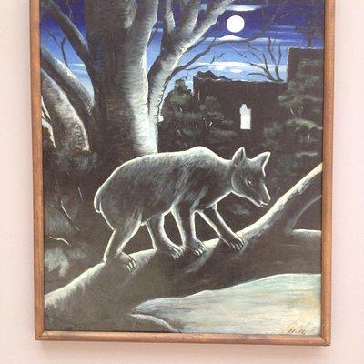 Пиросмани. Медведь в лунную ночь