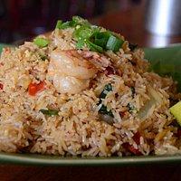 Chilli Basil Fried Rice with Prawns