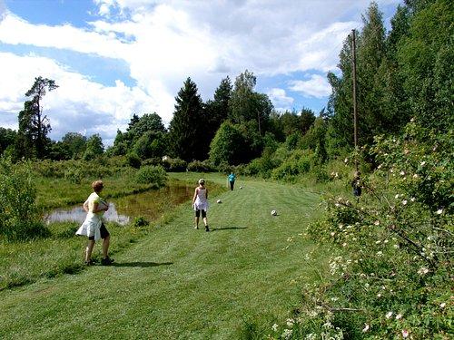 Hole 18 at Uppsala Fotbollsgolf