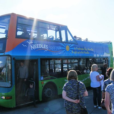 open top bus from Yarmouth to Needles