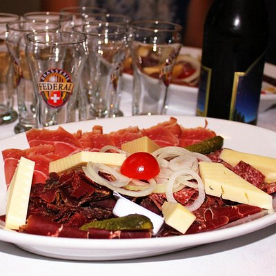 Traditional Swiss cheese and cold cuts