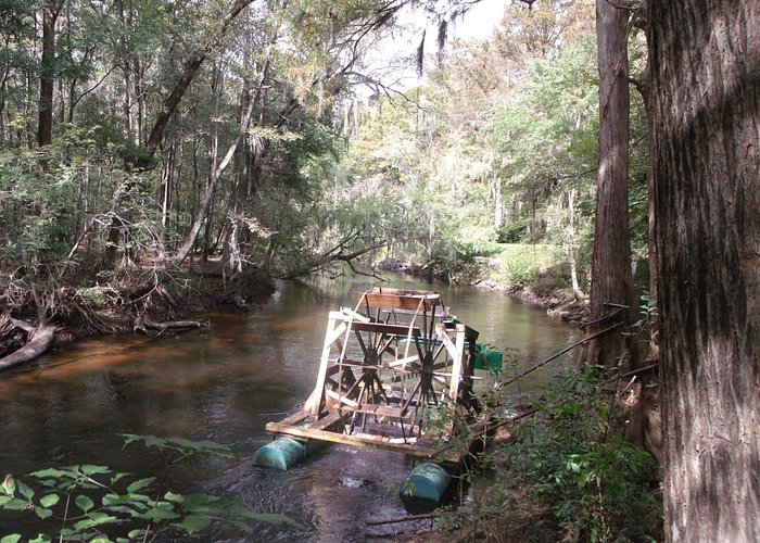 Water wheel on the river