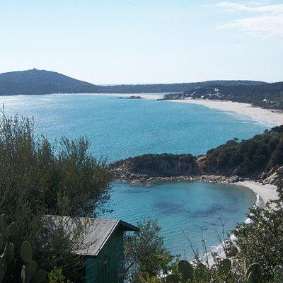 la baia de Is Traias-Porto Luna come si presentava nel 2012