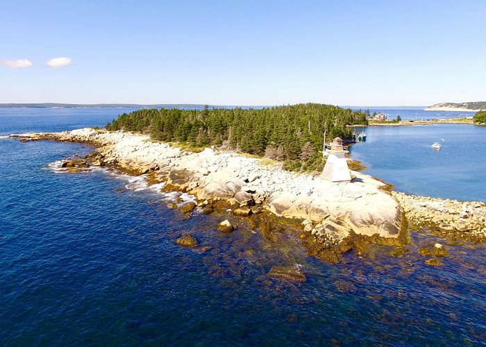 Indian Harbour Lighthouse (drone photo)