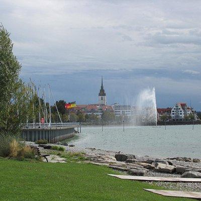 Gezicht op Friedrichshafen