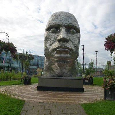 The Face of Wigan Statue