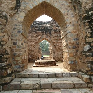 Entrance to the Tomb. So simple compared to what Alauddin was in his life and times.