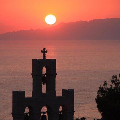 Evangelismos nunnery`s bell tower.