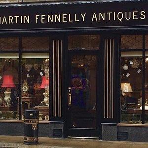 Martin Fennelly Antiques famous Shopfront