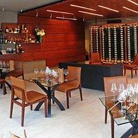 Panorama of the Corner 103 Wine Tasting Room