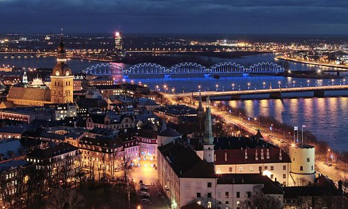 Old Town of Riga in night