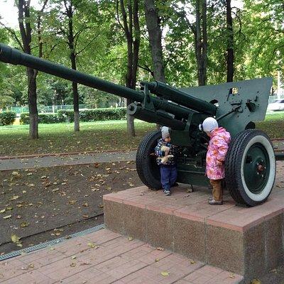 Пушка времен войны