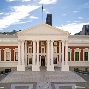 Facade of the National Council of Provinces (NCOP). One of the two houses of Parliament.