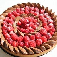TARTE CHOCOLAT D'ORIGINE FRAMBOISE