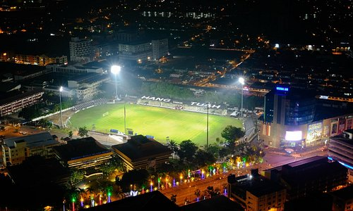 view from sky deck overlooking the Hang Tuah stadium
