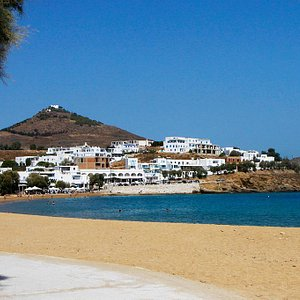 Logaras beach near the studios