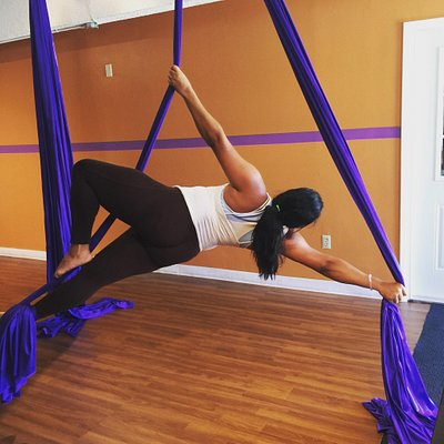 Aerial silks , Lyra classes & cardio classes offer at Bb Workouts Miami www.bbworkouts.com
