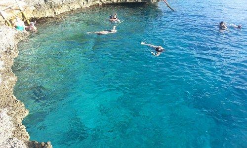 Água tão azul como na foto