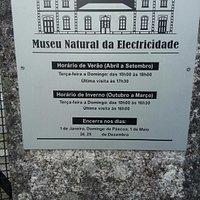 Placa do Museu Natural da Electricidade