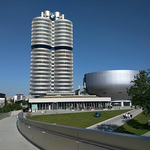 Outside the BMW Museum