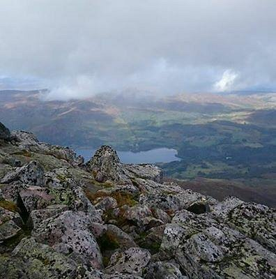 View from the summit once the cloud lifted