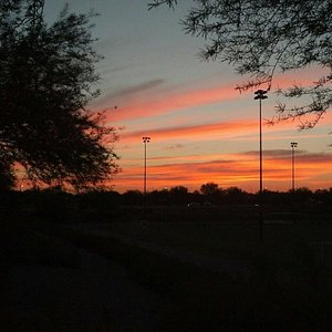 Even without a great sunset the sports complex is a beautiful soccer park!