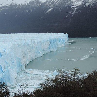 El glaciar desde las pasarelas